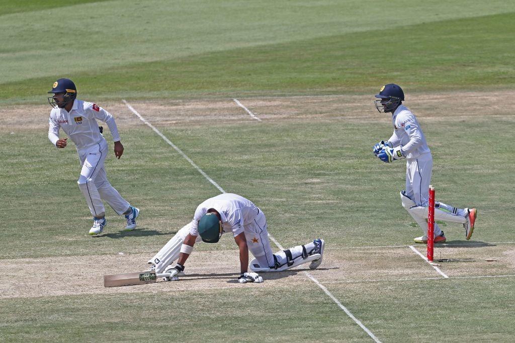 Opener Shan Masood was bowled by Rangana Herath.