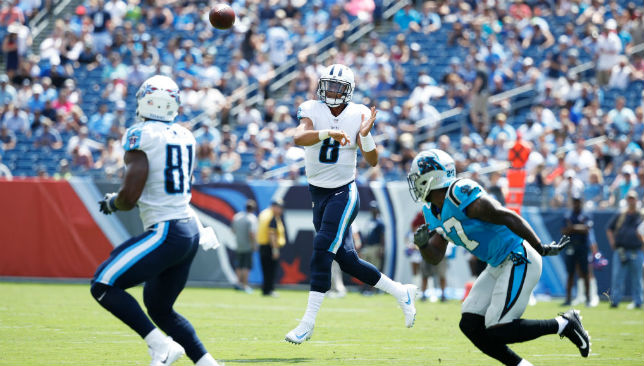 Remember the Titan: Marcus Mariota is quickly making his mark. Picture: Getty Images.