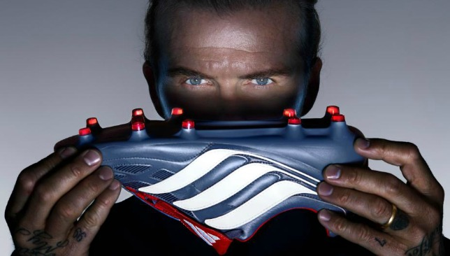 The brand new Adidas Predator Precisions, as modelled by David Beckham.