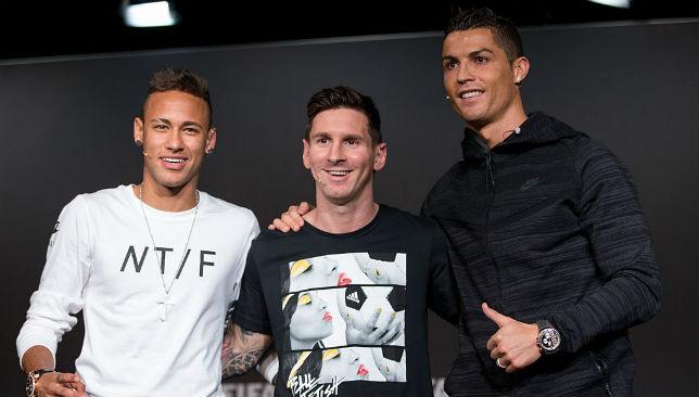 Neymar, Lionel Messi and Cristiano Ronaldo
