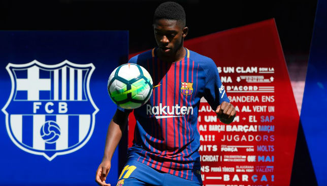 Ousmane Dembele became a Barcelona player this ummer.