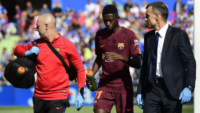 Dembele is out likely out until the new year.