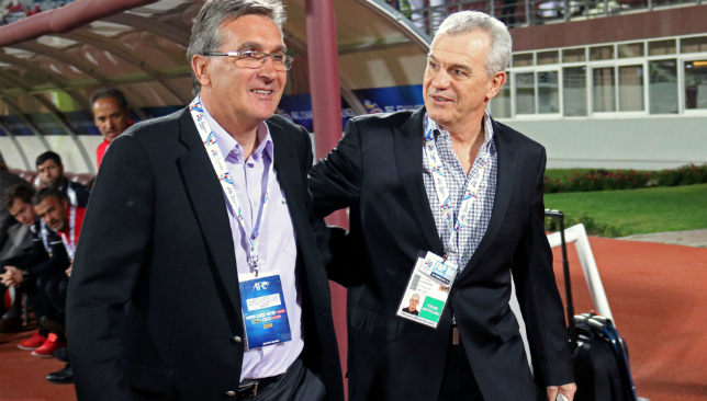On the list: Javier Aguirre (r) when with Al Wahda (Getty).