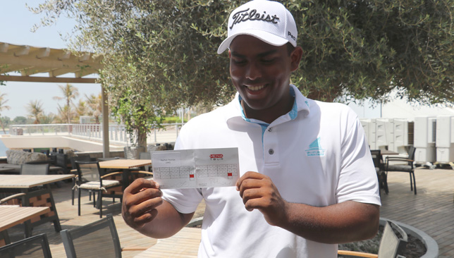 Dubai-based prodigy: Rayhan Thomas.