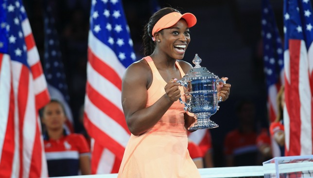 New era: Sloane Stephens downed Keys in the final of the 2017 US Open.