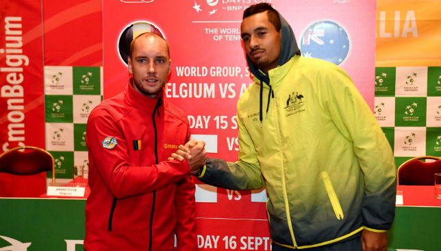 Steve Darcis and Nick Kyrgios.