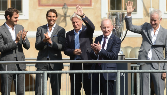 Seeing stars: Federer, Nadal, Borg, Laver and McEnroe in the Czech capital.
