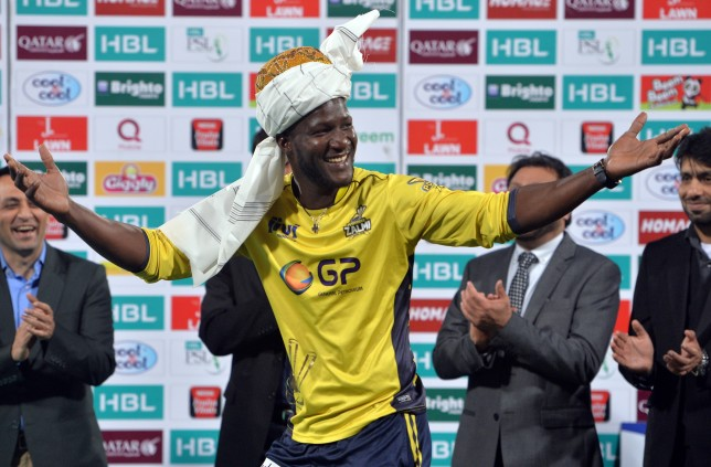 West Indies' Darren Sammy captained Peshawar Zalmi  at the PSL this year.