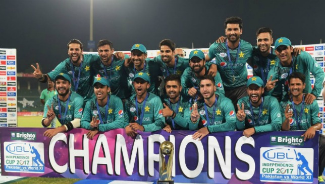 Pakistan climb to second spot in the rankings after World XI victory.