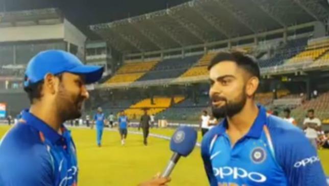 Vice-captain Rohit Sharma interviews skipper Virat Kohli.