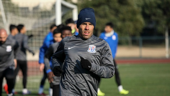 Carlos Tevez will not feature for the Chinese side until he gets fit.