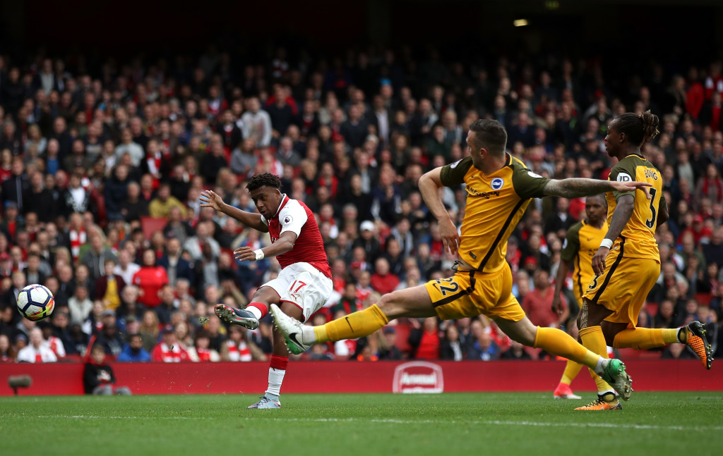 Brighton struggled to stop Arsenal's free-flowing attack.