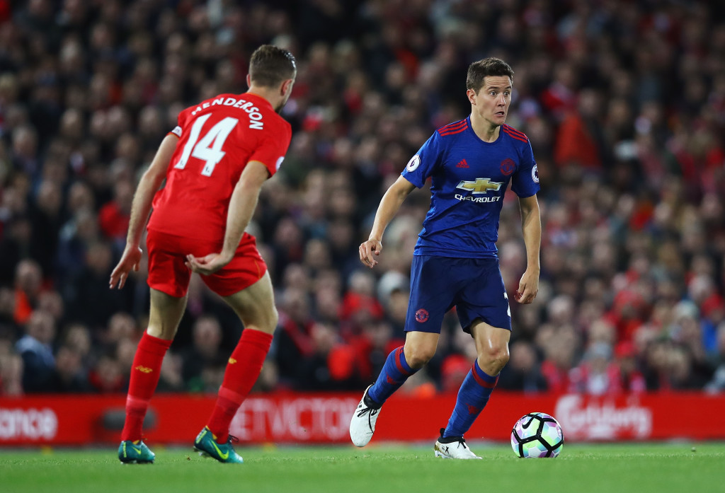 Ander Herrera has experience in delivering a midfield masterclass against Liverpool.