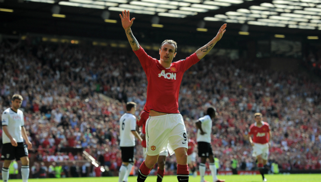 Berbatov played for United from 2008-12.