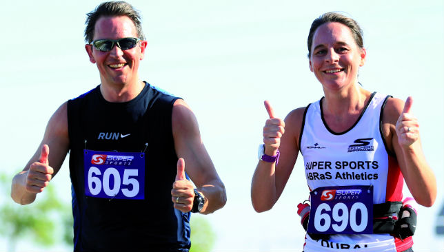 Thumbs up: A range of distances are available for people who want to take part.