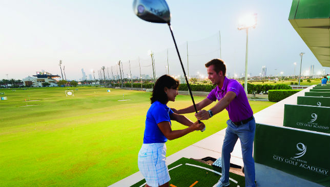 Pro-moting the game: The professionals will guide you through every stroke.
