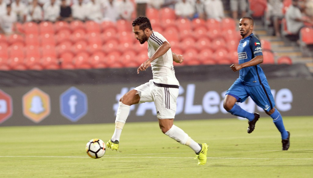 Ali Mabkhout's goal against Al Nasr was an historic one - it was his 102nd AGL strike, meaning he is the league's record scorer