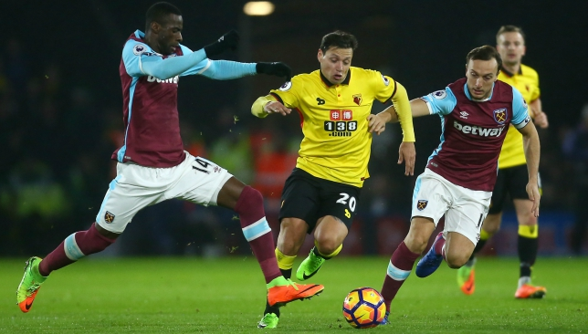 Nasr's new recruit: Mauro Zarate in action for Watford (Getty).
