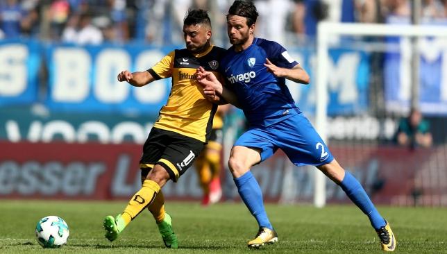 Dubai desire: Aias Aosman in action for Dynamo Dresden (Getty).