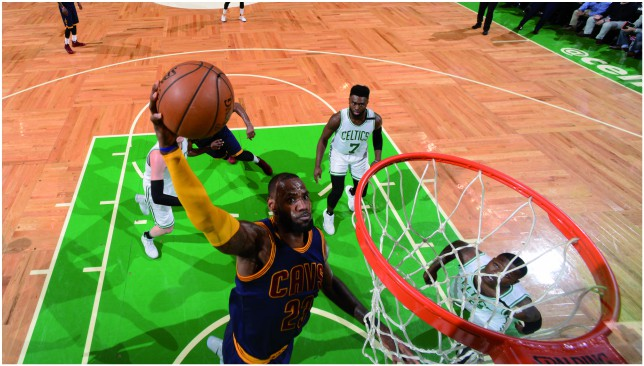 The King in the East: LeBron James. Picture: Getty Images.