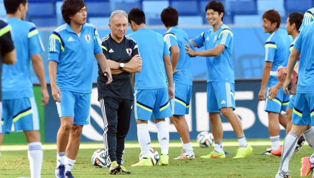 A new adventure: Alberto Zaccheroni with Japan at World Cup 2014 (Getty).