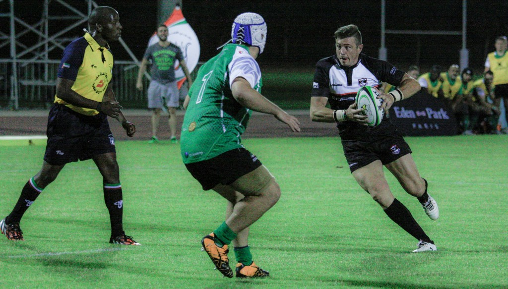 Eagles (green) were beaten 85-8 on their debut by Dubai Exiles