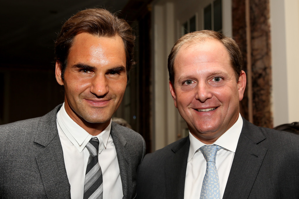 A fruitful partnership: Federer and Godsick.