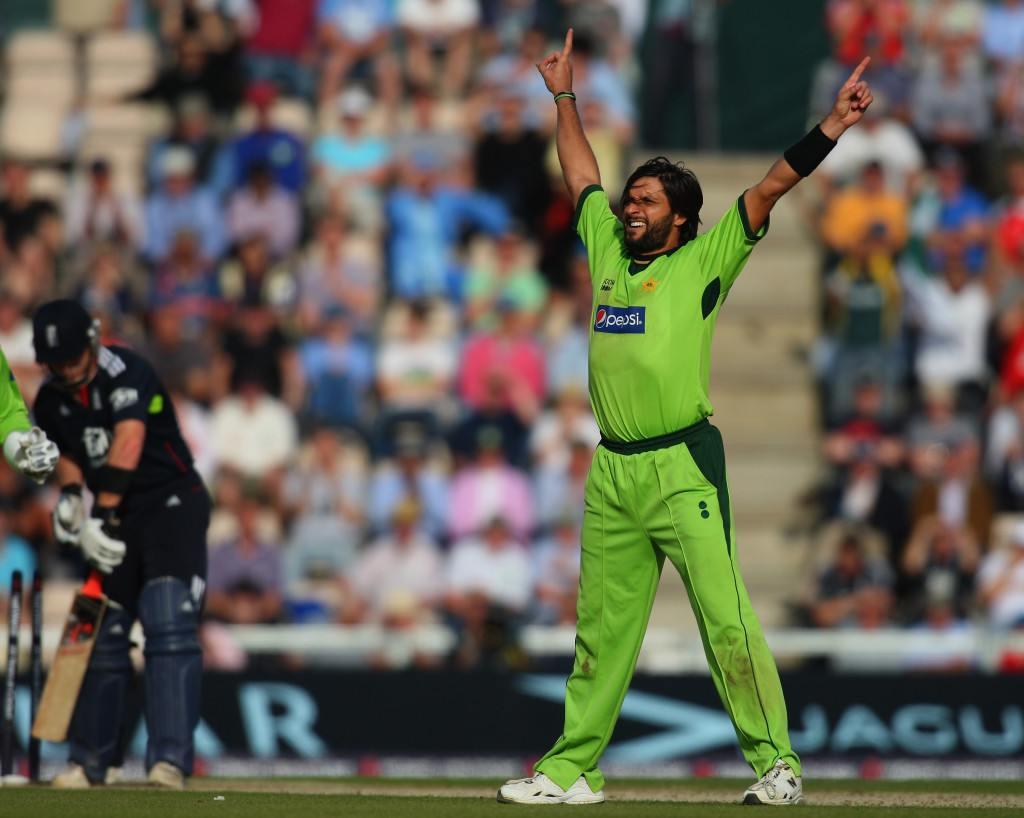 Afridi got decent returns with his accurate leg-spin.
