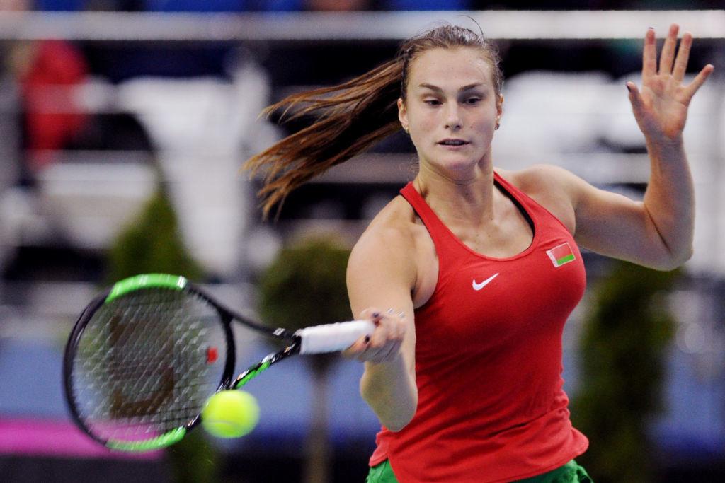 World No. 102 Sabalenka will be Sharapova's opponent in the final.
