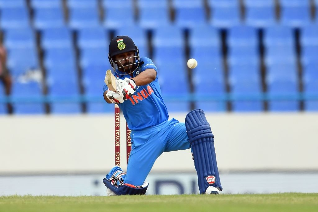 A bad day at the office for India's Kedar Jadhav.