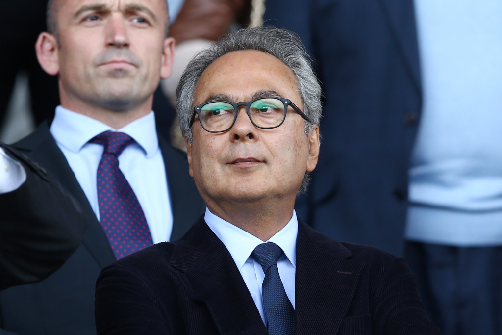 LIVERPOOL, ENGLAND - AUGUST 12: Farhad Moshiri owner of Everton looks on prior to the Premier League match between Everton and Stoke City at Goodison Park on August 12, 2017 in Liverpool, England. (Photo by Jan Kruger/Getty Images)