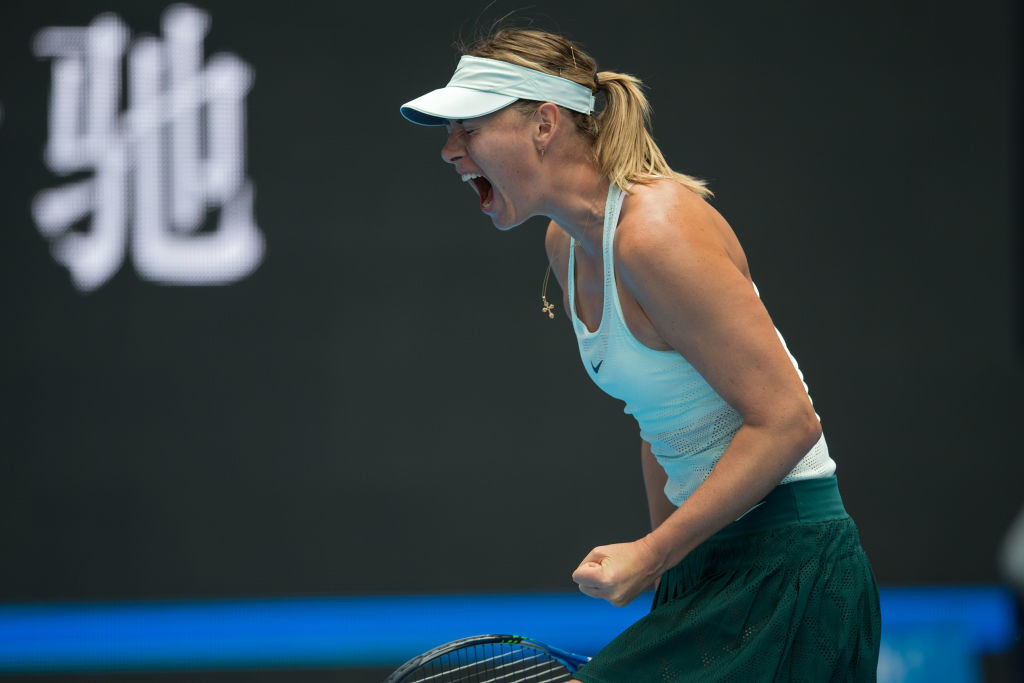 Sharapova had to dig deep to defeat compatriot Ekaterina Makarova.