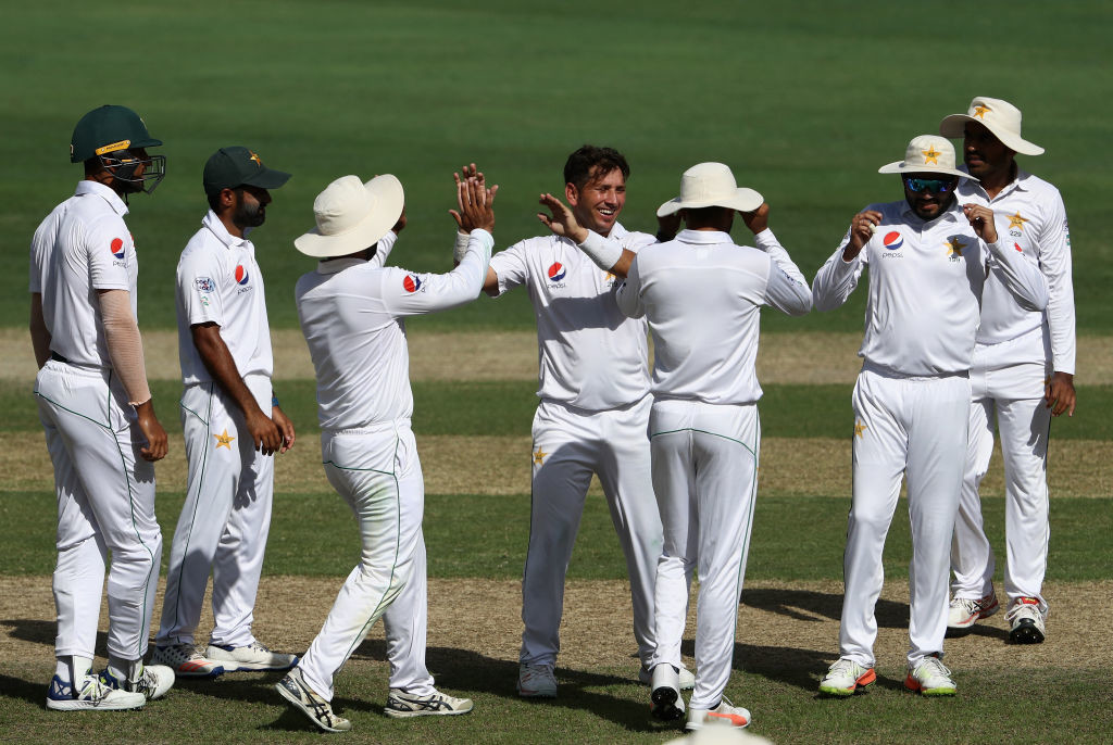 Yasir Shah had to do bulk of the Pakistan's bowling on Saturday.