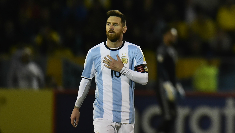 Argentina captain Lionel Messi