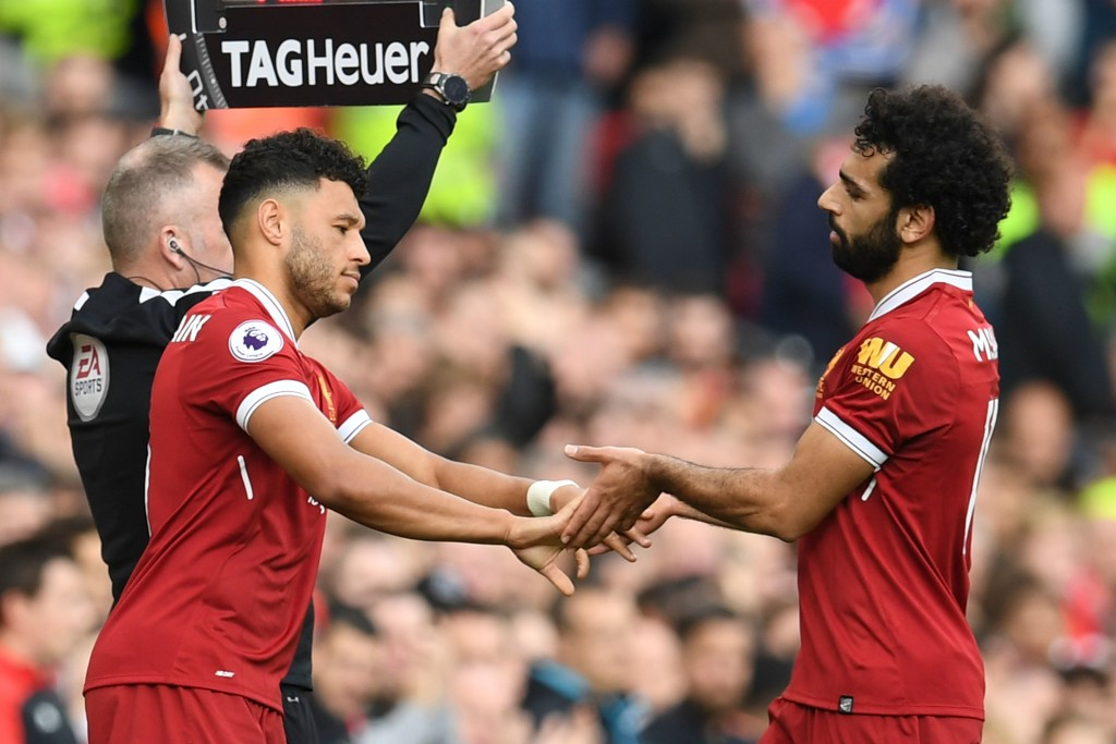Salah is substituted for Oxlade-Chamberlain