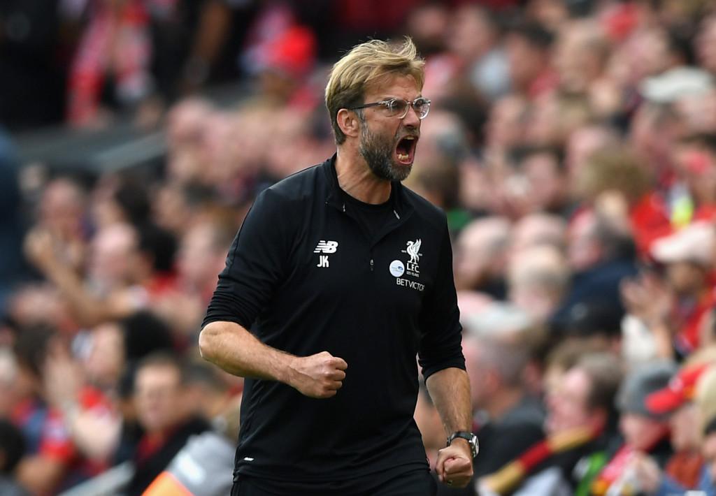 A frustrated Liverpool boss Jurgen Klopp