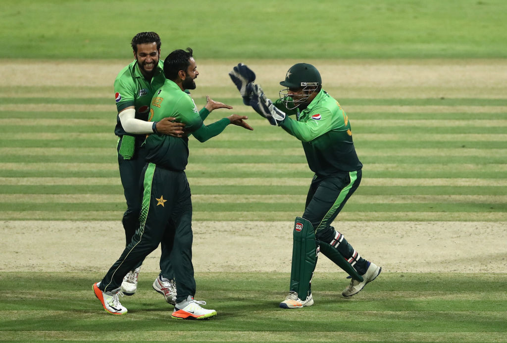 Hafeez picked up one wicket in Pakistan's win in the third ODI.