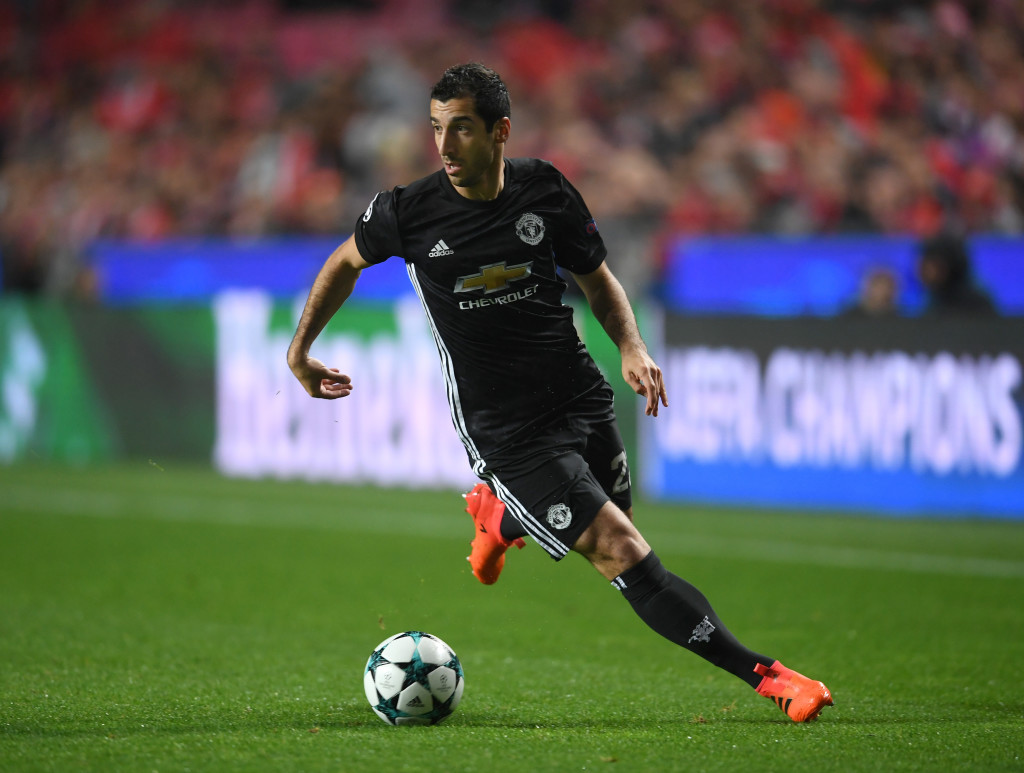 Mkhitaryan lost the ball 21 times in the clash with Benfica