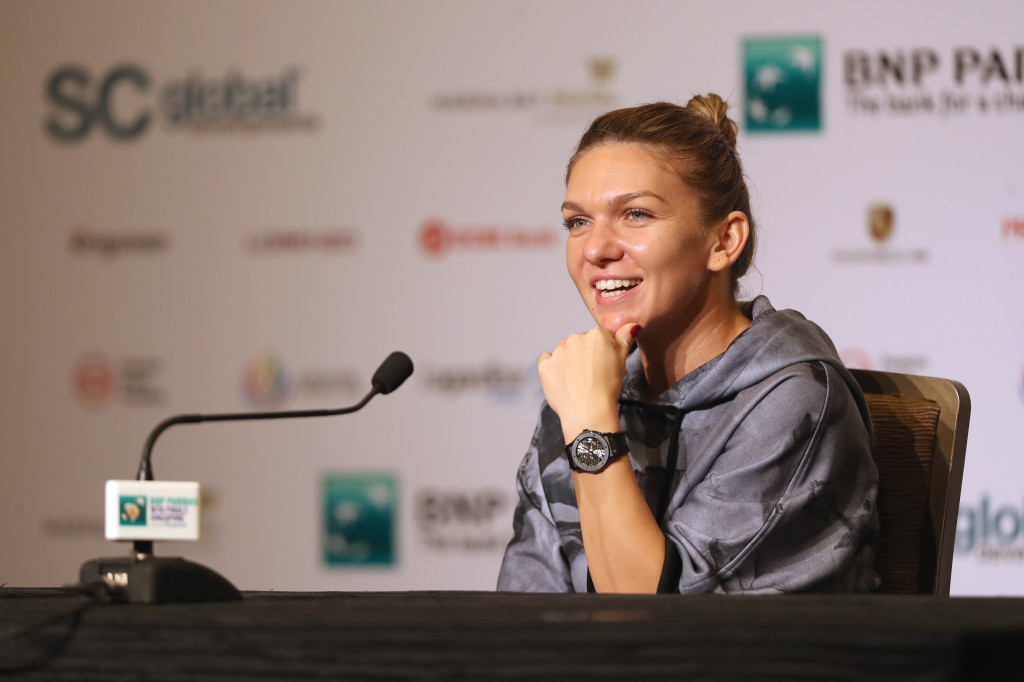 Leader of the pack: Simona Halep.
