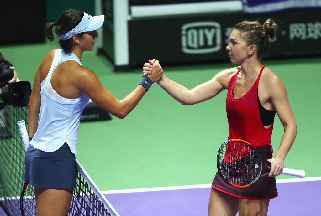 Halep avenged her China Open final defeat at the hands of Garcia.