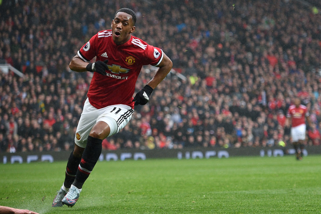 Martial wheels away after netting late winner against Spurs