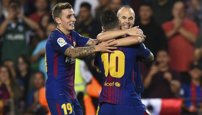 Up for the Copa: Andres Iniesta is used to celebrating success in the Copa del Rey.