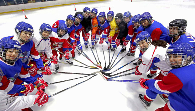 Pioneers: Kuwait's women's hockey team.