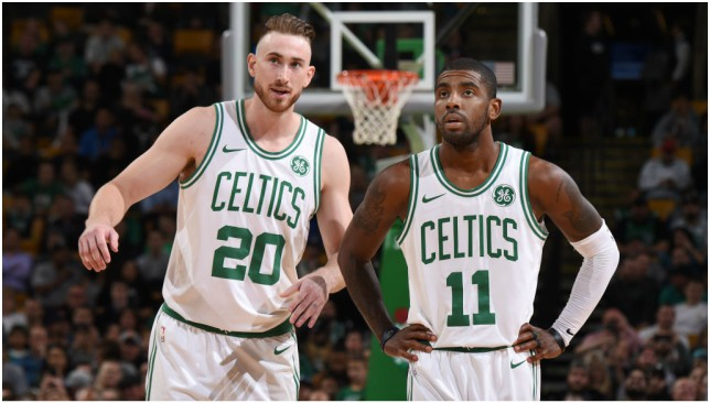 Dynamic duo: Gordon Hayward and Kyrie Irving. Picture: Getty Images.