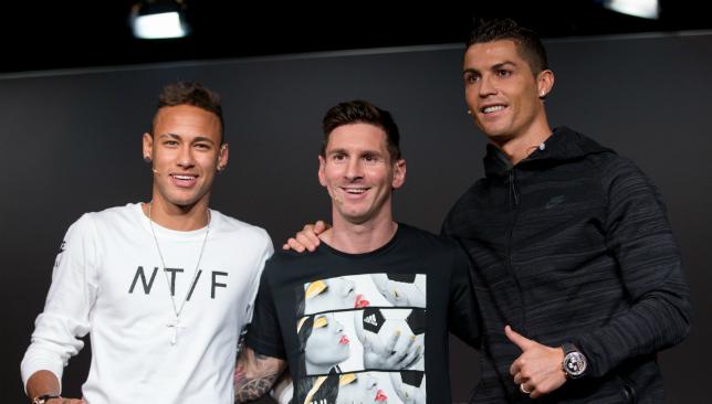 Star trio: Neymar, Messi, Ronaldo.
