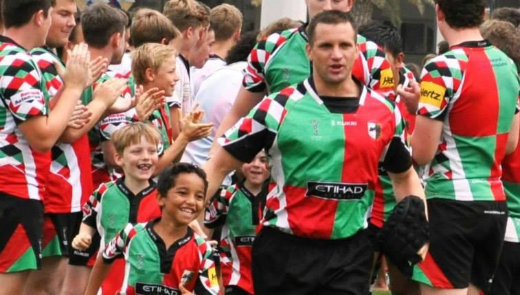Former Quins player Mike Ballard, forced to quit in 2014 after a spinal injury, now coaches the third team.