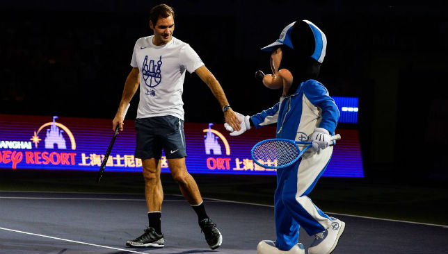 All fun and games for Federer.