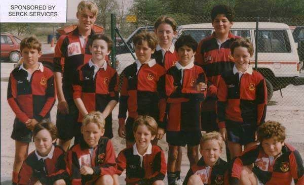 Shane Breen (bottom 2nd r) as a Sharjah youngster