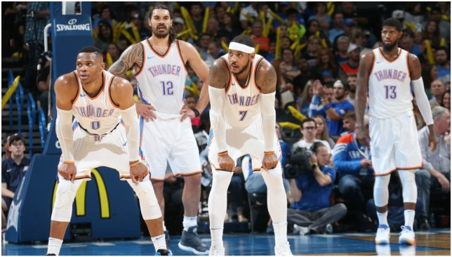 New faces: Oklahoma City Thunder core. Picture: Getty Images.