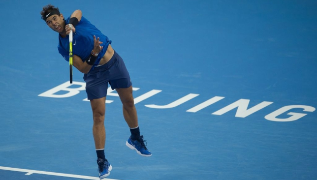 Rafael Nadal saved two match points before winning his Beijing first round.